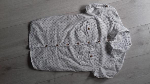 H&M Biala elegancka damska koszula w grochy groszki kropy kropki