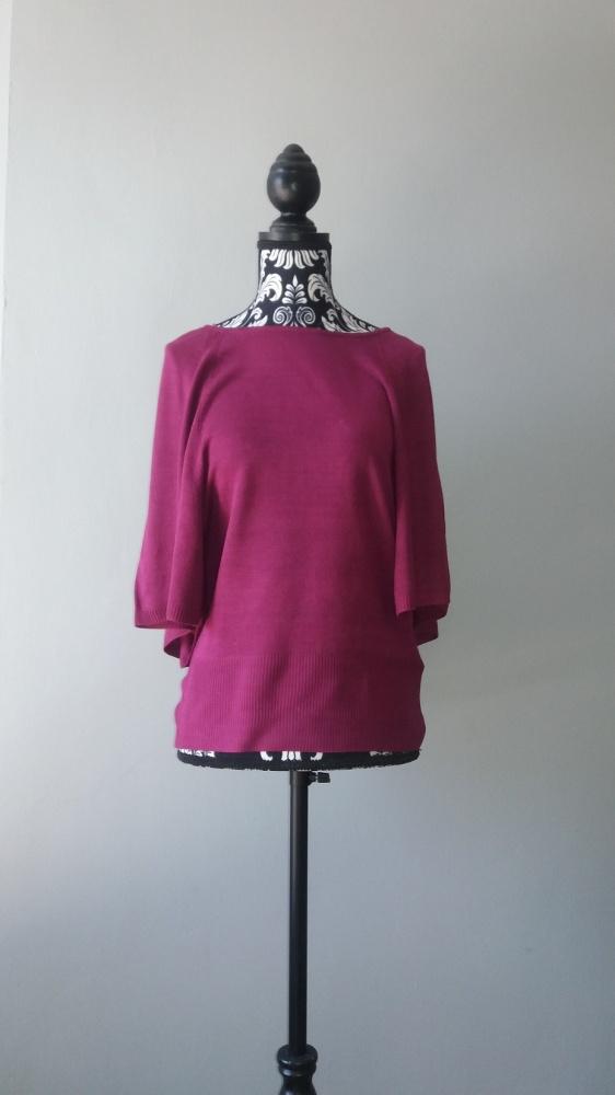 Idealny fioletowy sweterek nietoperz...
