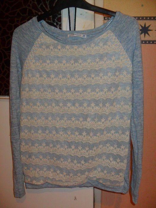 Bershka sweterek bluzka koronkowa koronka dzianina haftowana SM