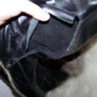 Kozaki skórzane skóra naturalna lis futro 38 39