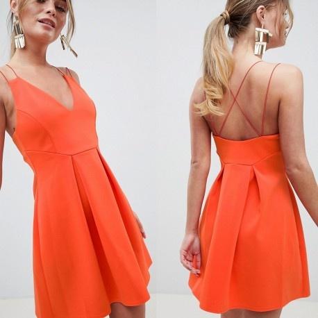 Pomarańczowa sukienka ASOS 36 S...