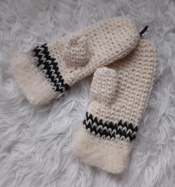 Wełniane rękawiczki zimowe...