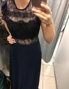 Sukienka maxi studniówka ASOS koronka M