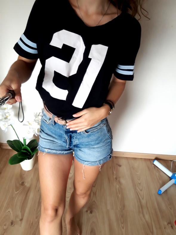czarna bluzka tshirt S M