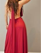 Długa sukienka balowa Odkryte plecy rozm uniwersalny...