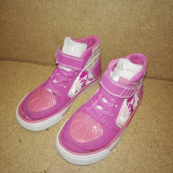 Adidas Różowe dziewczęce półbuty 27...