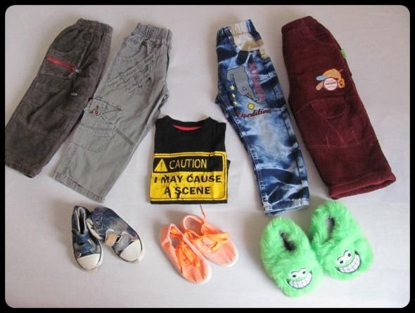Pozostałe Zestaw dla chłopca spodnie x 4 i inne 2 do 3 lat
