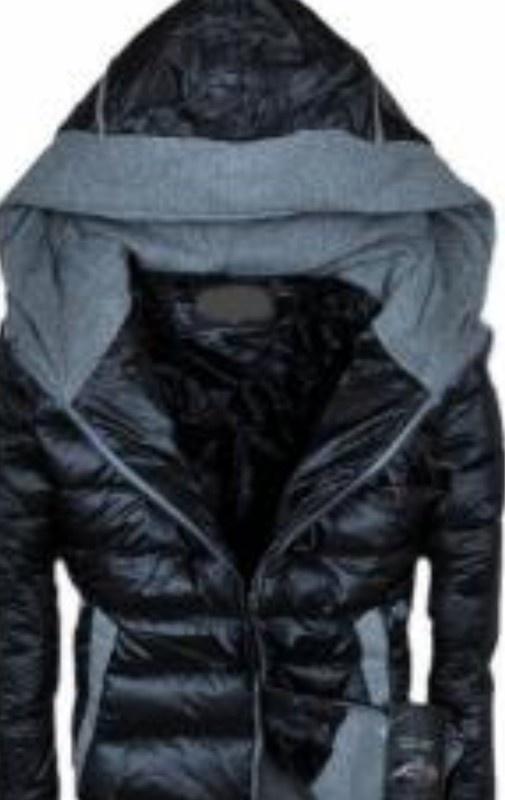 kurtka pikowana ocieplana boho czarna roz XL