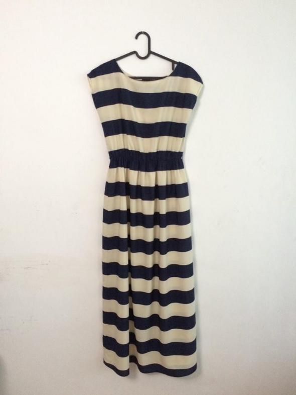 Sukienka w paski MAXI...