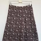 Asymetryczna spódnica Orsay brązowa w miętowe i różowe kwiatuszki XS 34