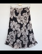 Elegancka spódnica H&M w kwiaty brązowa XS 34...
