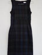 Ołówkowa sukienka biurowa Orsay princeska w kratkę XS 34...
