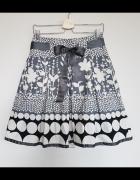 Nowa kobieca spódnica Promod w kropki kwiaty S 36