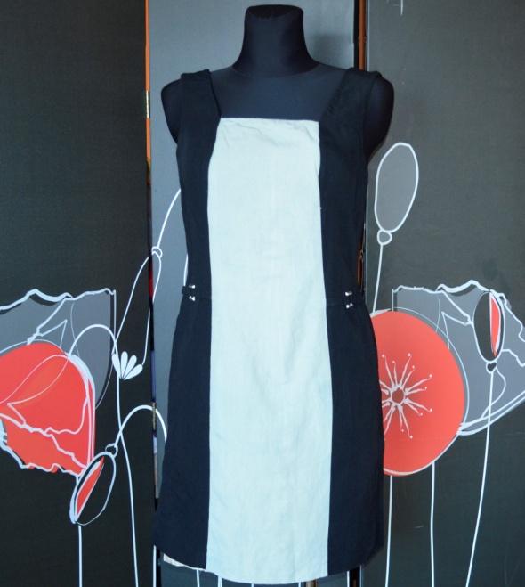 299 betty barclay lniana sukienka prosta 36...