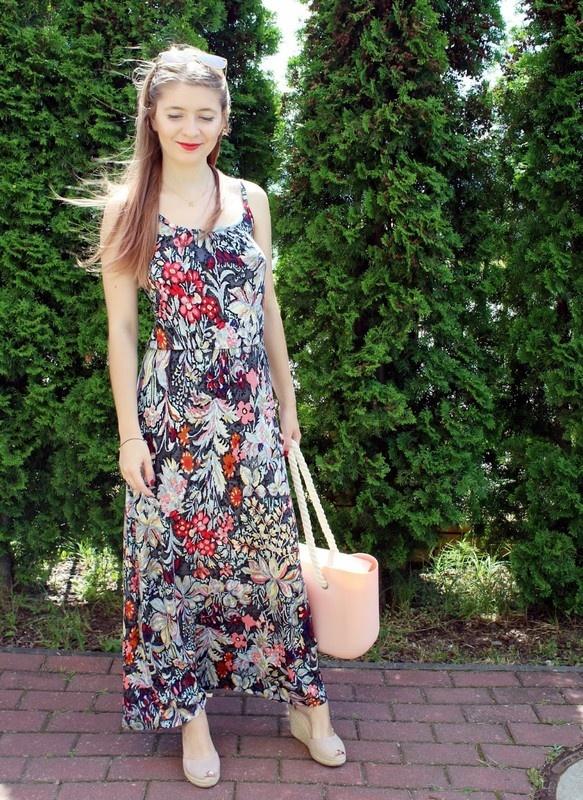 Wzorzysta sukienka maxi BonPrix