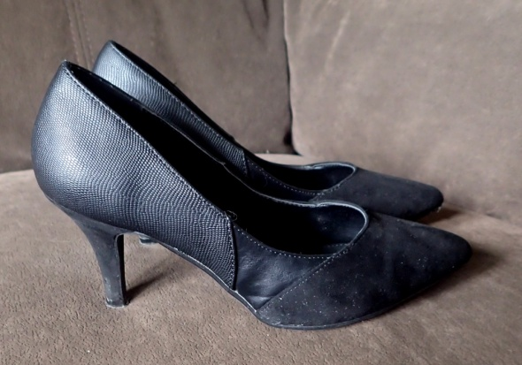 Czarne modne czółenka Camaieu szpilki 37...