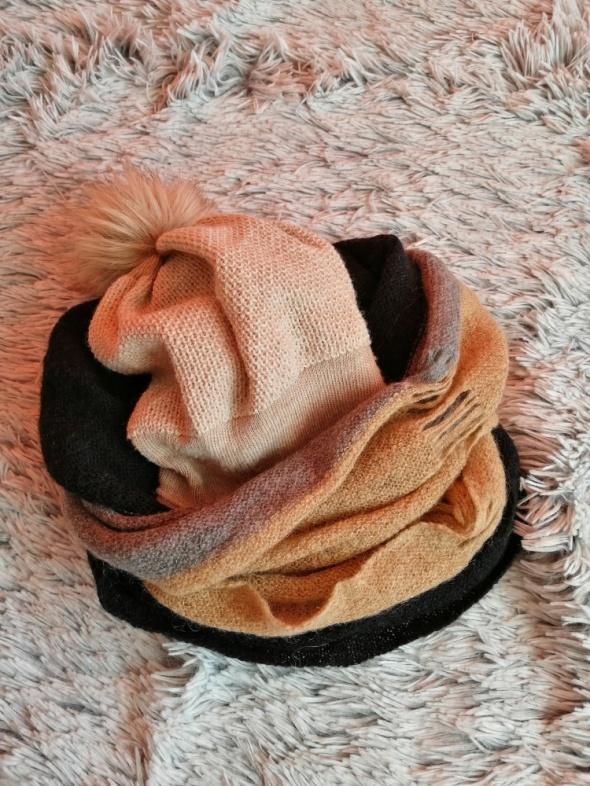 zestaw czapka i szalik komin