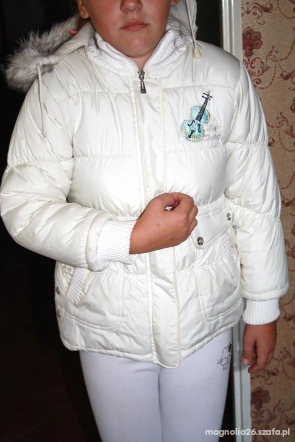 Ciepła kurtka dziewczęca 128 134 TOP Level używana