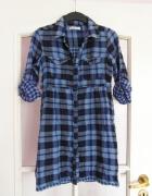 Długa koszula sukienka w kratę...