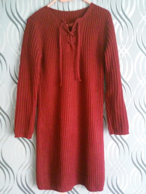 sweterkowa sukienka tunika