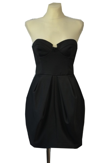 a73a83324cea Suknie i sukienki River Island Czarna Sukienka Bombka Tulipan Elegancka  Gorsetowa Glam Rock Gothic