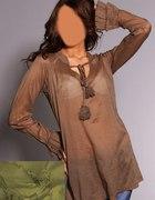 Romantyczna tunika bawełna rozmiar 42...