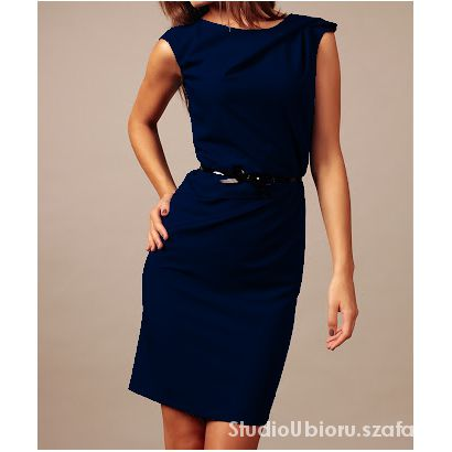 Elegancka sukienka z paskiem rozmiar 44 42