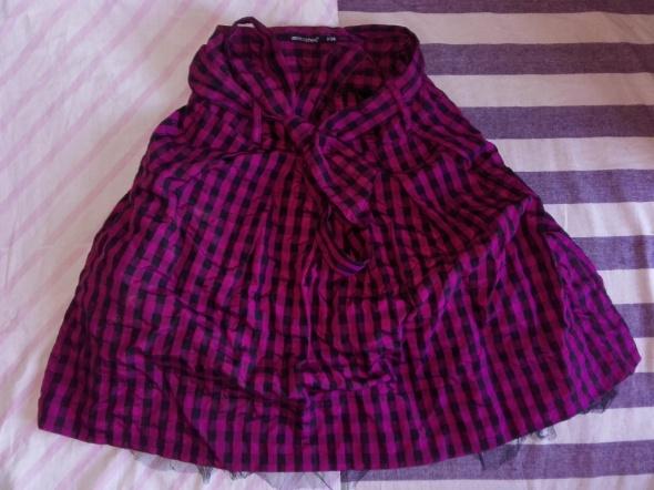 Imprezowa różowa spódnica mini rozkloszowana Atmosphere S 36 dł 53 cm tiul