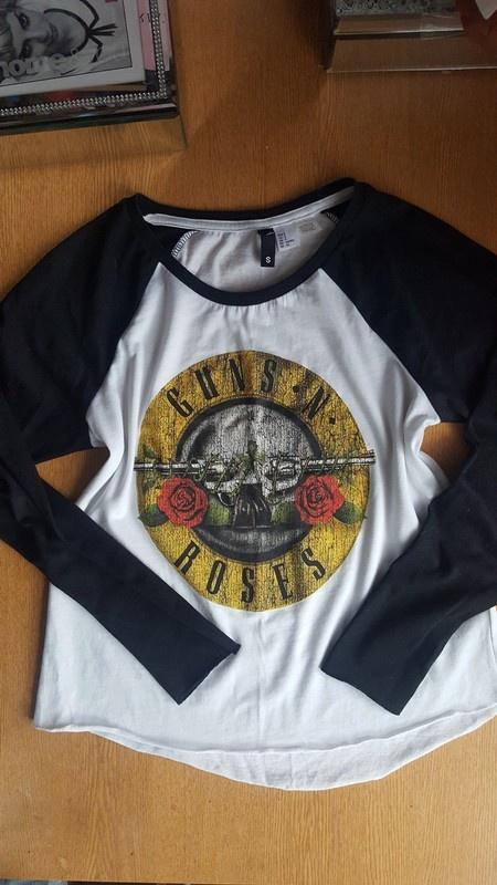 Bluzka h&m guns&roses nowa s...
