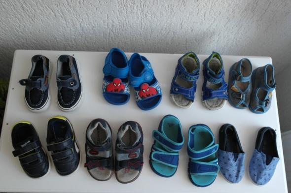 Obuwie 8 par bucików 22 23 24 Adidas Reebok
