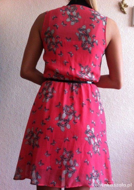 Suknie i sukienki Asymetryczna SUKIENKA PENSJONARKA kołnierzyk