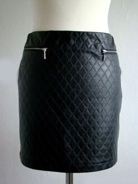 Spódnice skórzana pikowana spódniczka