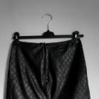 skórzana pikowana spódniczka