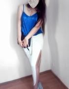 asymetryczna spódnica...