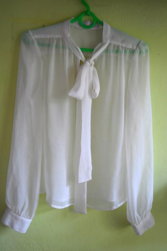 Koszule Biała Koszula mgiełka ONLY S jak nowa