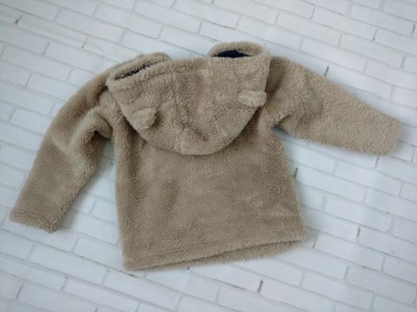 Bluzy Bluza miś beżowa ciepła 86 kaptur
