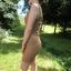 Amisu New Yorker karmelowa sukienka mini marszczona carmel 38 M
