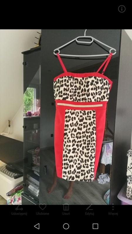 Piękna sukienka panterka s m...