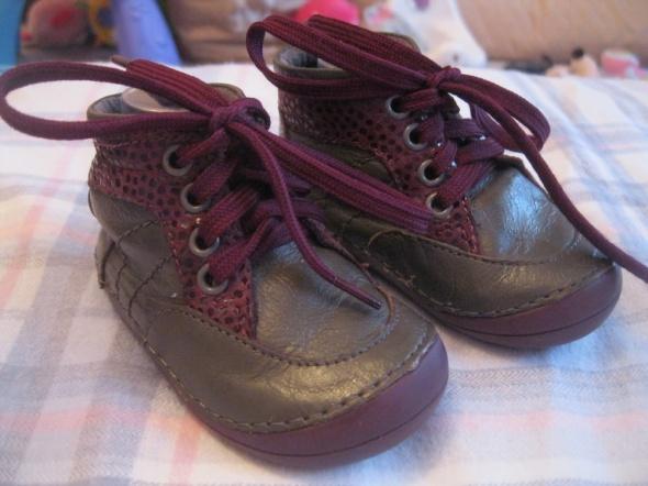Obuwie buty roczki 17 skóra trzewiczki szare