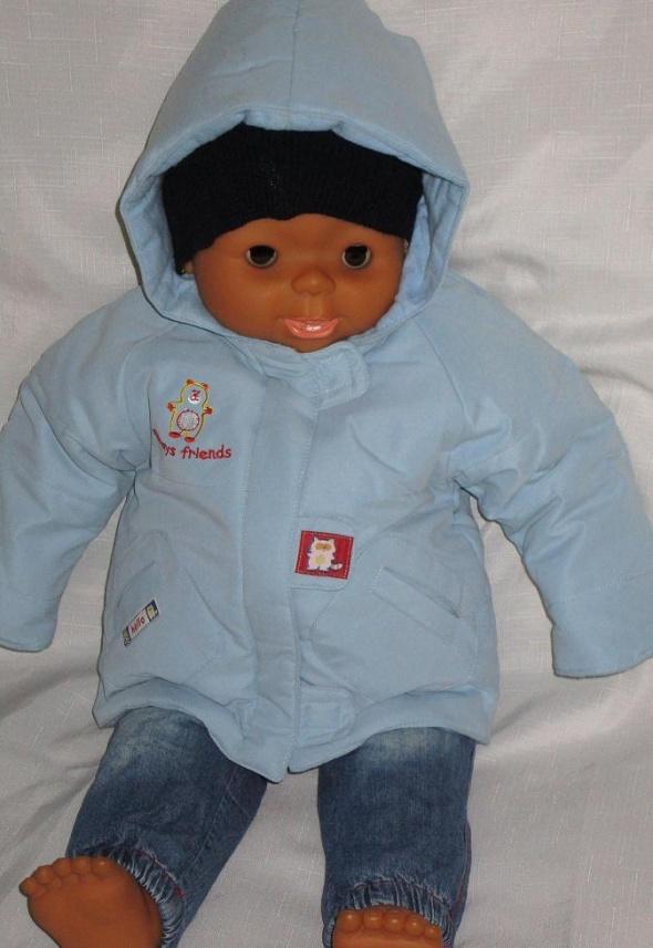 kurtka dla dziecka na jesień błękitna na 23 mc