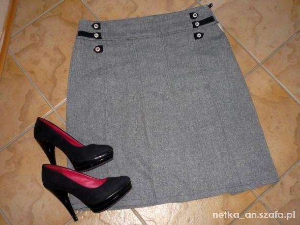 rozm 42 XL PROMOD spódnica melanż klasyczna do biu