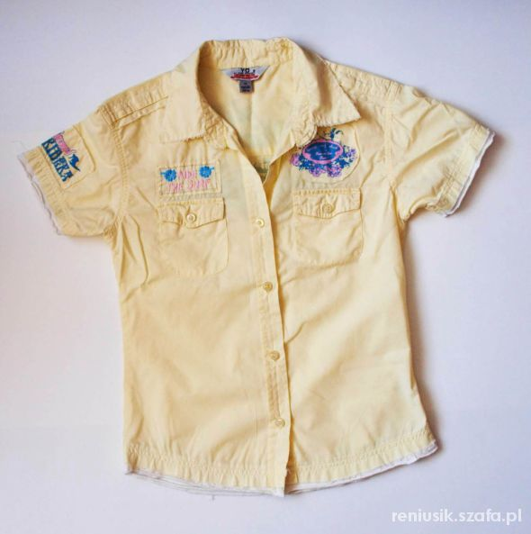Koszula zółta young dimension