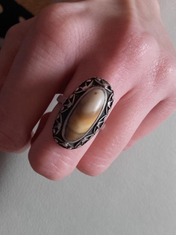 Srebrny pierścionek kopuła warmet