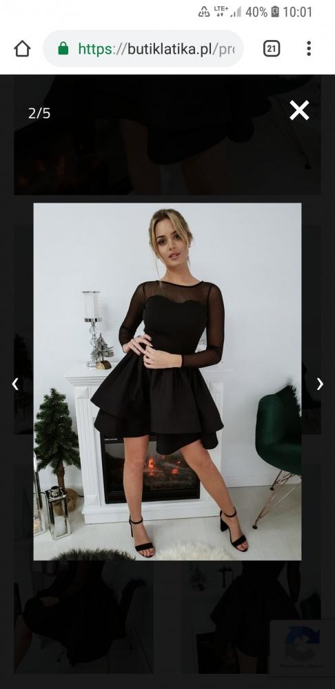 Sukienka czarna z siateczką