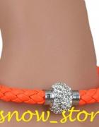 neonowa pomarańczowa bransoletka bangla...