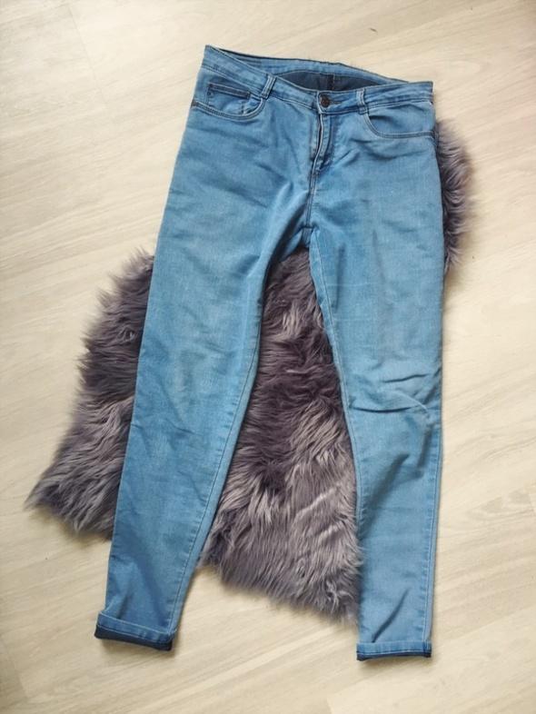 rurki jasny jeans 40 38 uniwersalne dopasowane