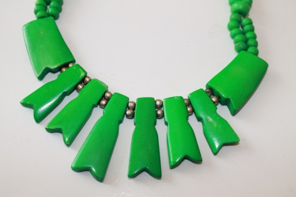 zielony naszyjnik etno korale