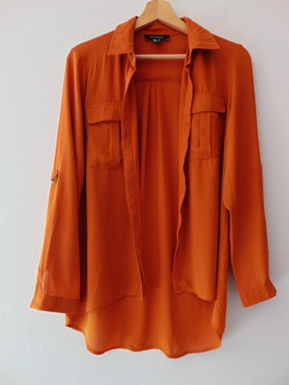 Karmelowa bluzka koszulowa Atmosphere 38 M...