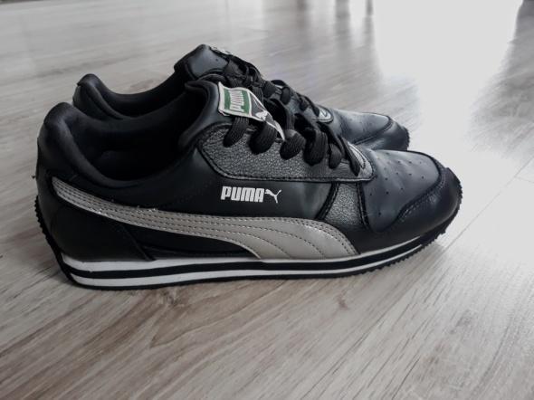 Puma sportowe Czarne srebrne 38 hit idealne...