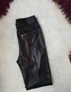 Czarne skórkowe legginsy M L...